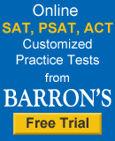 barrons sat psat act prep